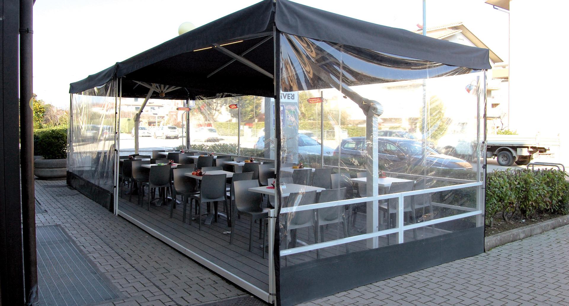 Gazebo Per Bar E Ristoranti.Spillantini Ombrelloni Professionali In Legno E Alluminio